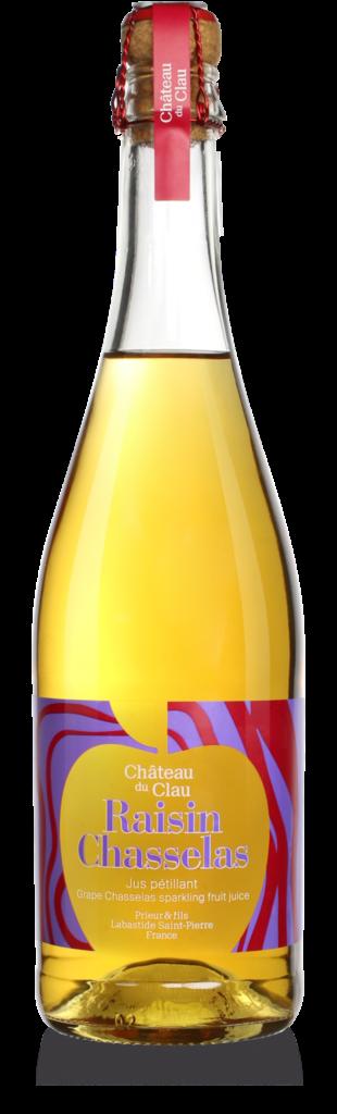 Sparkling Chasselas Grape fruit juice Premium natural fruit juice Chateau du Clau