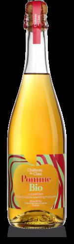 Petillant Pomme Bio jus de fruits artisanal haut de gamme naturel Chateau du Clau