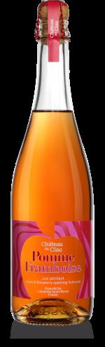 Petillant Pomme Framboise jus de fruits artisanal haut de gamme naturel Chateau du Clau
