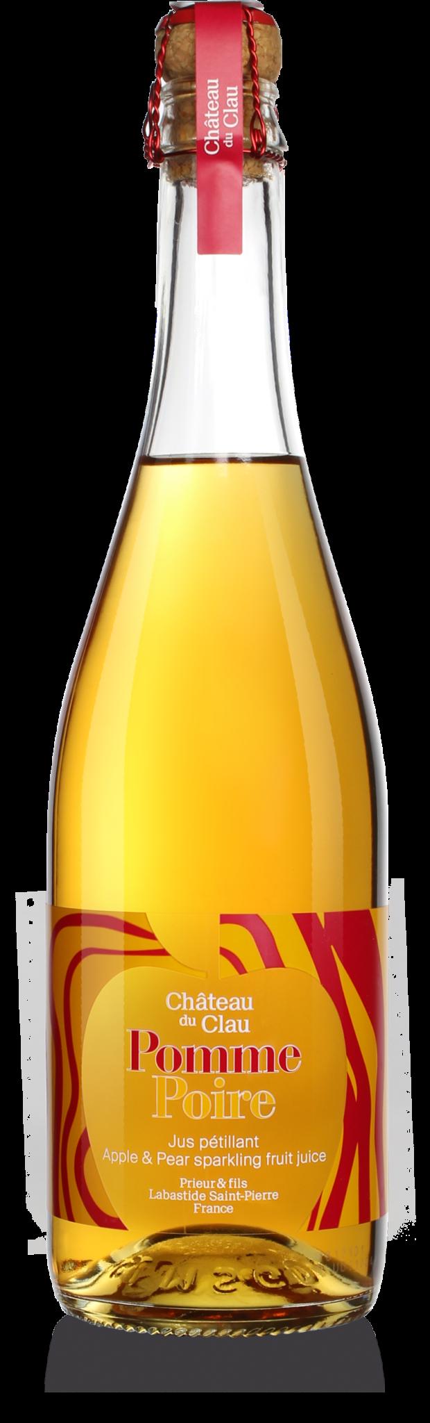 Petillant Pomme Poire jus de fruits artisanal haut de gamme naturel Chateau du Clau