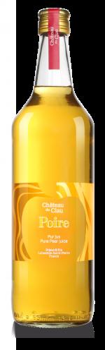 Pur Jus Poire Williams jus de fruits artisanal haut de gamme naturel Chateau du Clau