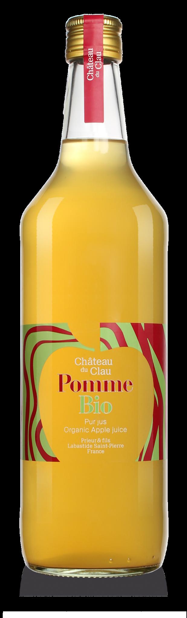 Pur Jus Pomme BIO jus de fruits artisanal haut de gamme naturel Chateau du Clau