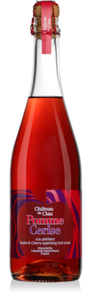 Sparkling Apple Cherry fruit juice premium natural fruit juice Chateau du Clau