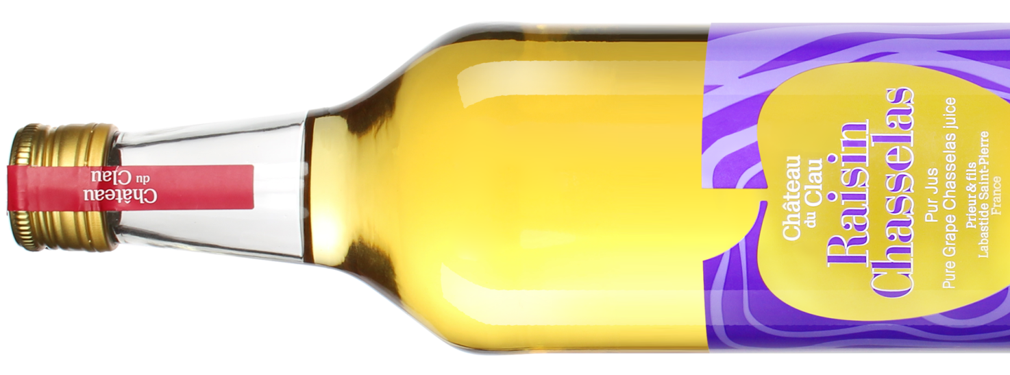 Pure Juice Chasselas Grape Premium natural fruit juice Chateau du Clau HD