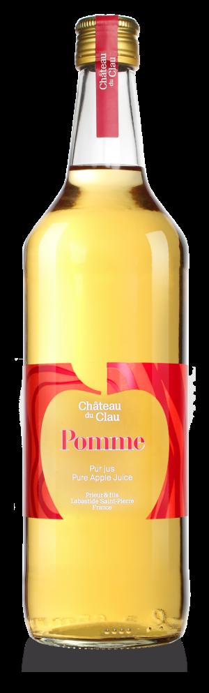 Pur Jus Pomme jus de fruits artisanal haut de gamme naturel Chateau du Clau