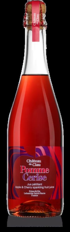 Petillant Pomme Cerise jus de fruits artisanal haut de gamme naturel Chateau du Clau