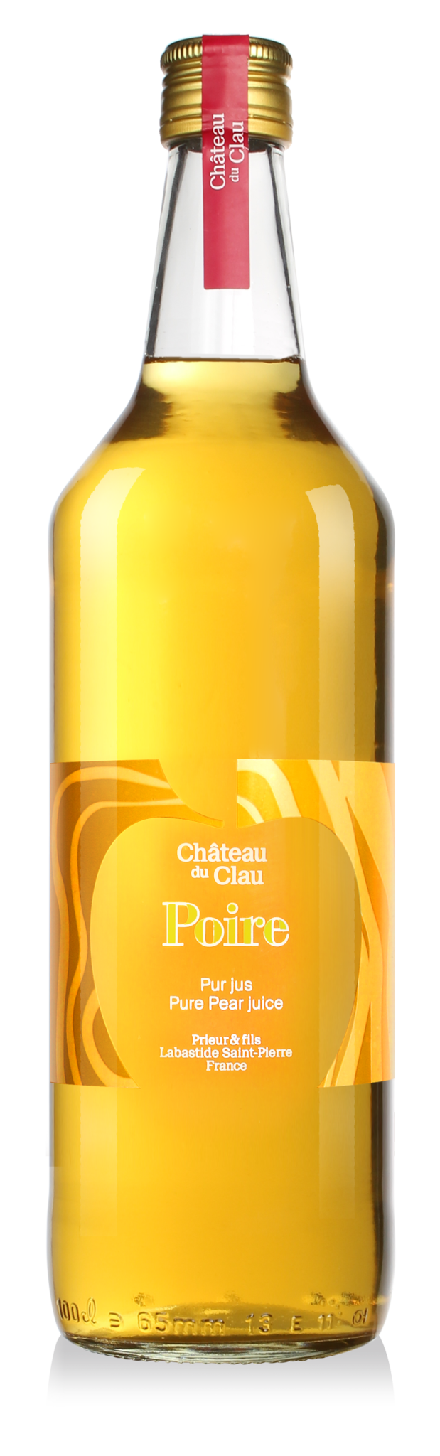 Pur Jus Poire Williams jus de fruits artisanal haut de gamme naturel Chateau du Clau